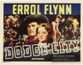 "Movie Posters:Western, Dodge City (Warner Brothers, 1938). Title Lobby Card (11"" X 14"").Heritage is proud to offer this incredibly beautiful title..."