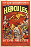 "Movie Posters:Adventure, Hercules (Warner Brothers, 1959). Poster (40"" X 60""). Between 1959and 1964, there were some 170 sword and sandals films mad..."