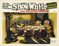 "Snow White and the Seven Dwarfs (RKO, 1937). Lobby Card (11"" X 14""). One of the best cards in the set, this ex..."
