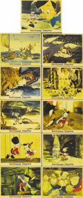 "Movie Posters:Animated, Pinocchio (RKO, 1940). Set of Color Stills (11) (8"" X 10""). Thislot is truly wonderful. Walt Disney and RKO went all out in..."