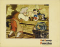 "Movie Posters:Animated, Pinocchio (RKO, 1940). Lobby Card (11"" X 14""). Gepetto puts thefinishing touches on his marionette Pinocchio while Figaro a..."