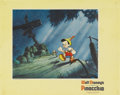 "Movie Posters:Animated, Pinocchio (RKO, 1940). Lobby Card (11"" X 14""). Pinocchio wants tobe a real boy and go to school, so he starts off on his ad..."