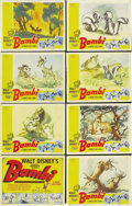 "Movie Posters:Animated, Bambi (RKO, 1942). Lobby Card Set of 8 (11"" X 14""). Disney producedthis famous and popular animated feature during the seco... (Total:8 Item)"