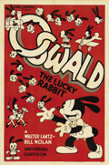 "Movie Posters:Animated, Oswald, the Lucky Rabbit (Universal, 1935). Stock One Sheet (27"" X 41""). Originally conceived by Walt Disney for Universal i..."