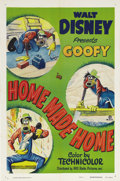 """Movie Posters:Animated, Home Made Home (RKO, 1951). One Sheet (27"""" X 41""""). Goofy isbuilding a house, with the results you might expect as he strugg..."""