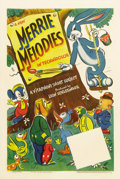 "Movie Posters:Animated, Merrie Melodies (Warner Brothers, 1941-1942). Stock One Sheet (27""X 41""). Warner Brothers was one of the few studios to alm..."