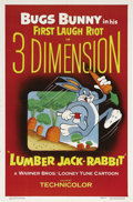 "Movie Posters:Animated, Lumber Jack-Rabbit (Warner Brothers, 1954). One Sheet (27"" X 41"").This was Warner Brothers' only 3-D animated film and was ..."