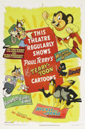 "Movie Posters:Animated, Terry-Toon Cartoons (20th Century Fox, 1950). Stock One Sheet (27""X 41""). Great cartoon poster featuring Mighty Mouse, Heck..."