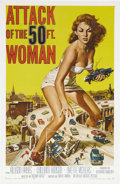 "Movie Posters:Science Fiction, Attack of the 50 Foot Woman (Allied Artists, 1958). One Sheet (27""X 41""). Allison Hayes, our heroine, is kidnapped by a bal..."