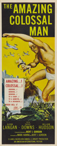 "Movie Posters:Science Fiction, The Amazing Colossal Man (AIP, 1957). Insert (14"" X 36""). Duringatomic tests in the Nevada desert, Army colonel Glenn Manni..."