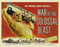 "Movie Posters:Science Fiction, War of the Colossal Beast (American International, 1958). HalfSheet (22"" X 28""). This is the sequel to ""The Amazing Colossa..."