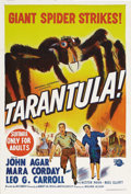 "Movie Posters:Science Fiction, Tarantula (Universal, 1955). Australian One Sheet (27"" X 40"").Taken from the work of Reynold Brown, this artwork highlights..."