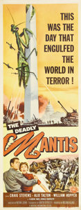 "Movie Posters:Science Fiction, The Deadly Mantis (Universal International, 1957). Insert (14"" X36""). By 1957, the studios were running out of giant bugs t..."