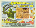 "Movie Posters:Science Fiction, The Creature Walks Among Us (Universal, 1956). Half Sheet (22"" X28""). This story finds our favorite water monster undergoin..."