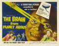 "Movie Posters:Science Fiction, The Brain From Planet Arous (Howco, 1957). Half Sheet (22"" X 28"").A huge floating alien brain that cackles about its superi..."