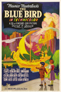"Movie Posters:Fantasy, The Blue Bird (20th Century Fox, 1939). One Sheet (27"" X 41"").Shirley Temple stars in this classic children's fantasy about..."