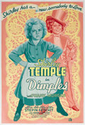 "Movie Posters:Musical, Dimples (20th Century Fox, 1936). Poster (40"" X 60""). As usual,Shirley Temple is the cute moppit who doesn't realize that h..."
