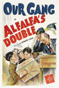 "Movie Posters:Short Subject, Alfalfa's Double (MGM, 1940). One Sheet (27"" X 41""). Alfalfa (CarlSwitzer) comes face-to-face with his wealthy look-a-like ..."