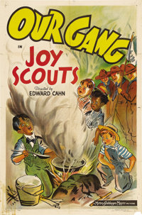 "Joy Scouts (MGM, 1939). One Sheet (27"" X 41""). Robert Blake (pictured on bottom right of the poster) stars in..."