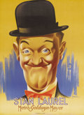 "Movie Posters:Comedy, Stan Laurel (MGM, 1938). French Petite (22"" X 30.5""). Wonderful artby French artist Benari of Stan Laurel. This was one of ..."
