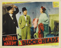 "Movie Posters:Comedy, Block-Heads (MGM, 1938). Lobby Cards (4) (11"" X 14""). Laurel andHardy appear in this, one of their feature comedies for MGM...(Total: 4 Item)"