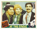 "Movie Posters:Comedy, At The Circus (MGM, 1939). Lobby Card (11"" X 14""). The MarxBrothers save a mortgaged circus by convincing a Newport sociali..."