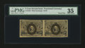 Fractional Currency:Second Issue, Fr. 1233 5¢ Second Issue Uncut Pair PMG Choice Very Fine 35....