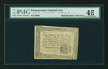 Colonial Notes:Pennsylvania, Pennsylvania April 20, 1781 1s/6d PMG Choice Extremely Fine 45....