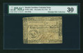 Colonial Notes:South Carolina, South Carolina December 23, 1777 (pen corrected to 1776) $2 PMGVery Fine 30....