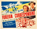 "Movie Posters:Hitchcock, Foreign Correspondent (United Artists, 1940). Title Lobby Card (11""X 14"").. ..."