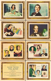 """Gone with the Wind (MGM, 1939). Roadshow Lobby Card Set of 8 (11"""" X 14""""). ... (Total: 8 Items)"""