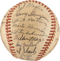 Autographs:Baseballs, 1951 New York Giants Team Signed Baseball....