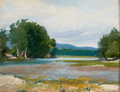 Texas, CAROLYN ROSE HARPHAM (American, 1910-1969). River Landscape.Oil on artist's board. 14 x 18 inches (35.6 x 45.7 cm). Sig...