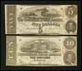 Confederate Notes:1863 Issues, Two 1863 Notes.. ... (Total: 2 notes)