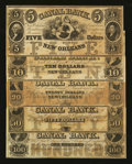Obsoletes By State:Louisiana, New Orleans, LA- Canal Bank $5; $10; $20; $50; $100. ... (Total: 5 notes)