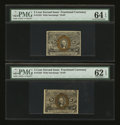 Fractional Currency:Second Issue, Fr. 1233 5¢ Second Issue PMG Choice Uncirculated 64 EPQ and PMG Uncirculated 62 EPQ.... (Total: 2 notes)