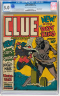 Golden Age (1938-1955):Crime, Clue Comics #1 (Hillman Publications, 1943) CGC VG/FN 5.0 Light tan to off-white pages....