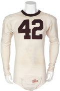 Football Collectibles:Uniforms, Circa 1939 Derace Moser Game Worn Texas A&M Jersey....