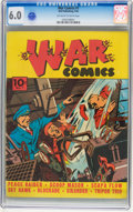 Golden Age (1938-1955):War, War Comics #1 (Dell, 1940) CGC FN 6.0 Off-white to white pages....