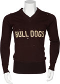Football Collectibles:Uniforms, 1910's Canton Bulldogs Football Sweater....