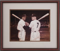 Baseball Collectibles:Photos, Joe DiMaggio and Mickey Mantle Signed Photograph....
