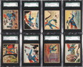 "Non-Sport Cards:Lots, 1940 R145 ""Superman"" SGC-Graded Collection (15). ..."