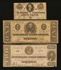 Confederate Notes:1863 Issues, Three Different 1863 Notes.. ... (Total: 3 notes)