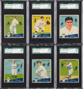 Baseball Cards:Lots, 1934 World Wide Gum SGC 92 NM-MT+ 8.5 Group of (6). ...