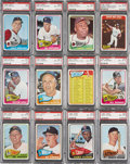 Baseball Cards:Sets, 1965 Topps Baseball PSA-Graded Partial Set (182)....