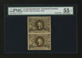 Fractional Currency:Second Issue, Fr. 1233 5¢ Second Issue Vertical Pair PMG About Uncirculated 55 EPQ....