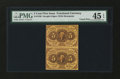 Fractional Currency:First Issue, Fr. 1230 5¢ First Issue Vertical Pair PMG Choice Extremely Fine 45 EPQ....