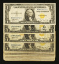 Small Size:World War II Emergency Notes, Fr. 2306 $1 1935A North Africa Silver Certificates. Eleven Examples. Very Good or Better.. ... (Total: 11 notes)
