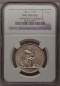 Seated Half Dollars, 1861-O 50C --Improperly Cleaned--NGC. Unc Details. NGC Census:(0/116). PCGS Population (4/116). Mintage: 2,532,633. Numisme...