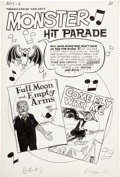 """Original Comic Art:Complete Story, Tales Calculated to Drive You Bats #2 Complete 2-page Story""""Monster Hit Parade"""" Original Art (Archie, 1962).... (Total: 2Items)"""